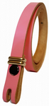 "12.5 mm Pink Snap Fit Leather Belt (½"")"